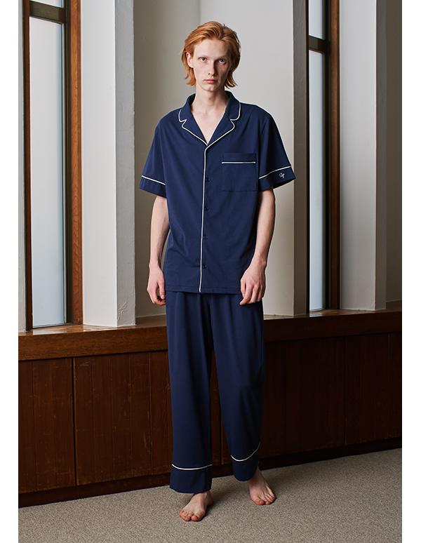 コットンベアパジャマ半袖&ロングパンツ/セット【メンズ/BOX付】
