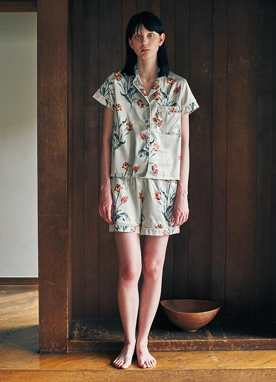 ボタニカルパジャマ 半袖&ショートパンツ/セットアップ