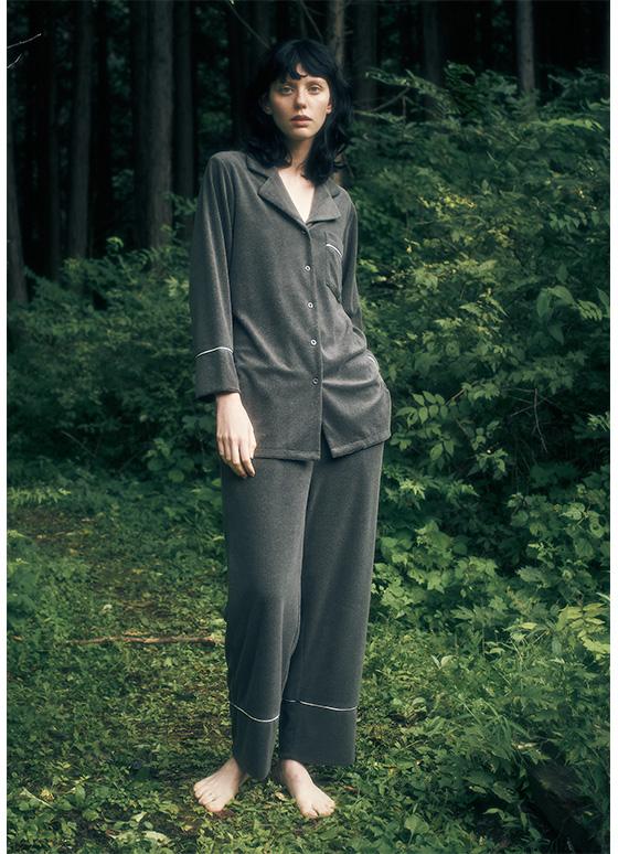 パイルパジャマ 長袖&ロングパンツ/セットアップ