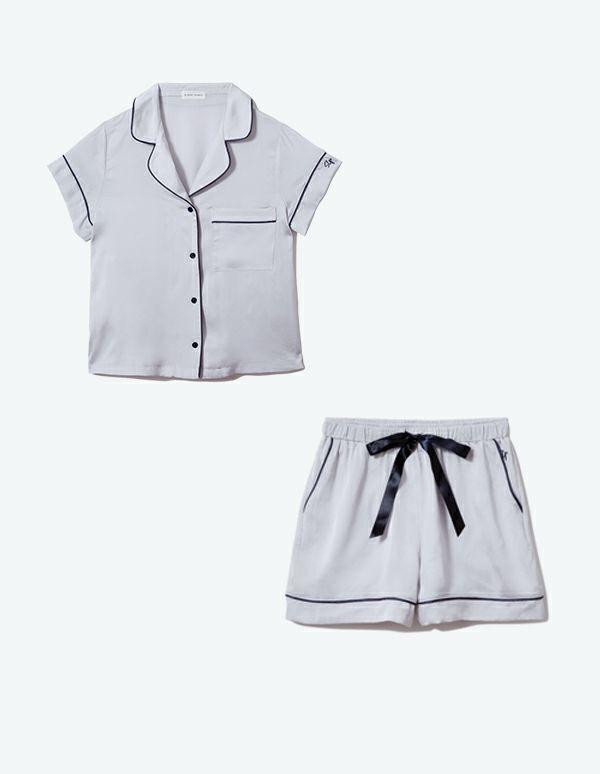 SLEEPY SLEEPY ヴィンテージサテンパジャマ半袖&ショートパンツ/セット 【BOX付】