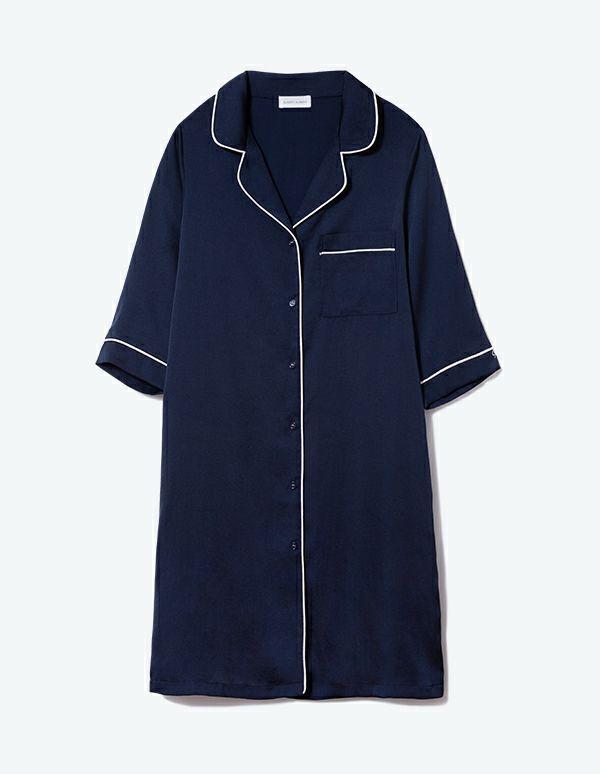 SLEEPY SLEEPY ヴィンテージサテンパジャマ七分袖ワンピース【BOX付】