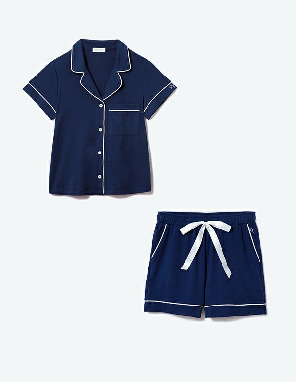 SLEEPY SLEEPY コットンベアパジャマ半袖&ショートパンツ/セット【BOX付】