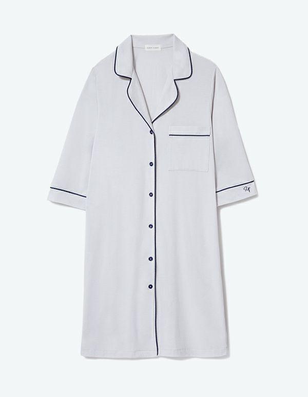 SLEEPY SLEEPY コットンベアパジャマ七分袖ワンピース【BOX付】