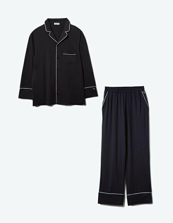SLEEPY SLEEPY コットンベアパジャマ長袖&ロングパンツ/セット【メンズ/BOX付】