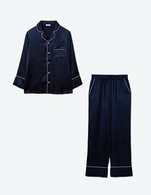 SLEEPY SLEEPY シルクパジャマ長袖&ロングパンツ/セット【メンズ/BOX付】