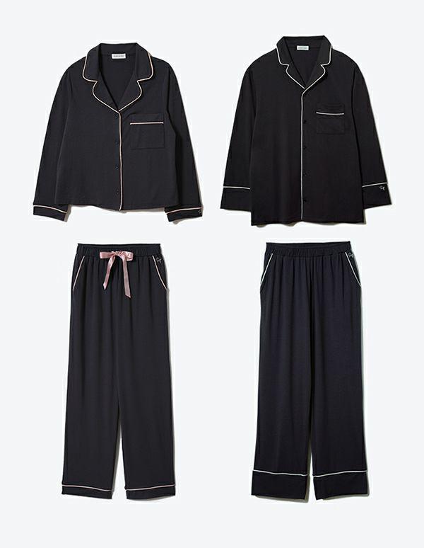 コットンベアパジャマ長袖&ロングパンツ/セット【ペアパジャマ/限定BOX付】