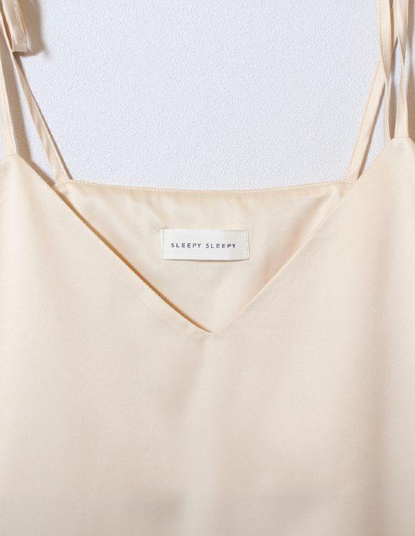 SLEEPY SLEEPY サテンキャミソール&ショートパンツ/セット【巾着付】